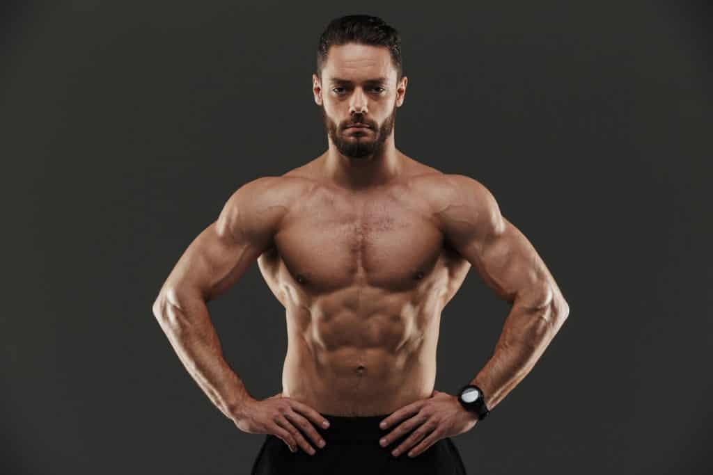 cut lean muscle man