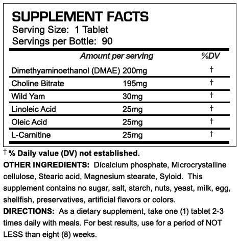 Winnidrol Supplement Facts