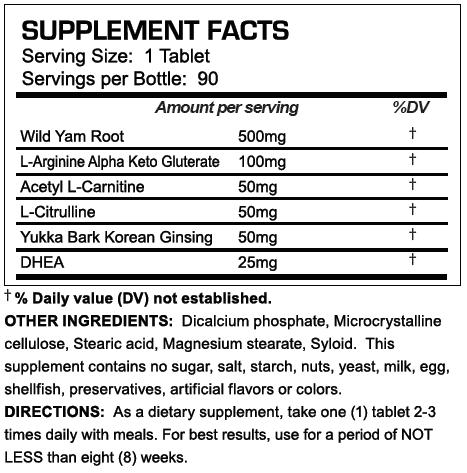 D-Ka Supplement Facts