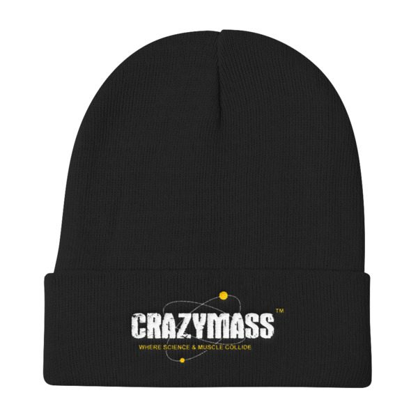 Black Knit Beanie Hat - CrazyMass