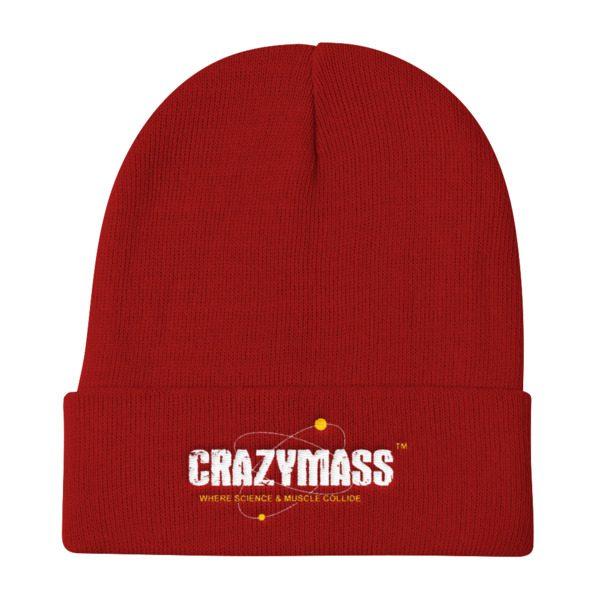 CrazyMass Red Beanie Hat