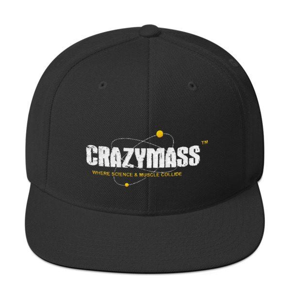 Black Snapback Hat - CrazyMass