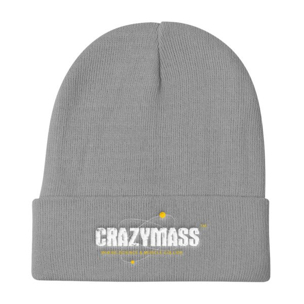 Grey Knit Beanie Hat - CrazyMass