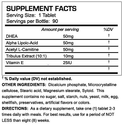 Testosteroxn - Supplement Facts